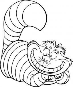 Dibujo para colorear Gato Cheshire