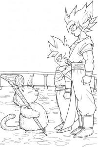 Goku para colorear | Dibujos de Goku