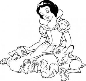 Blancanieves y los animales | Dibujos de Blancanieves