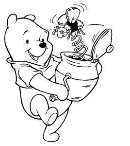 Winnie Pooh jugando | Dibujos de Winnie Pooh