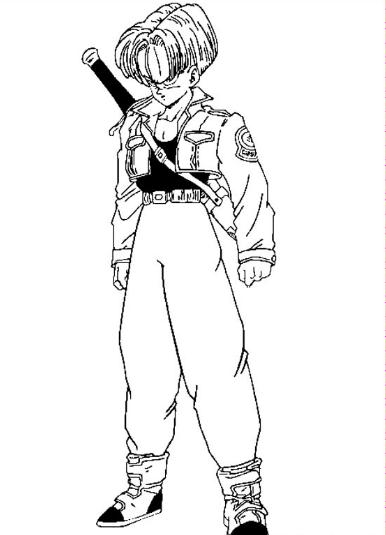 Dibujo de Trunks del futuro para colorear y pintar