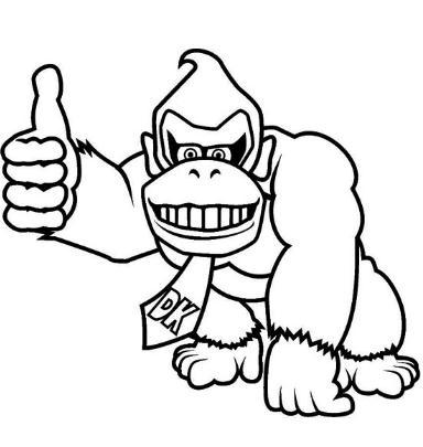 Donkey Kong feliz