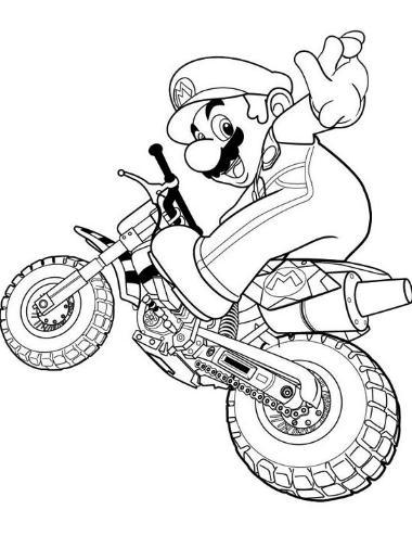 Mario Bros dibujo para colorear