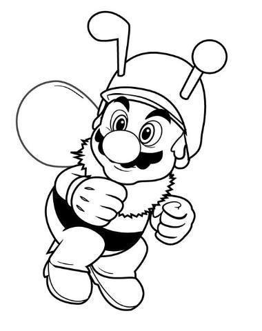 Mario Bros vestido de abejorro