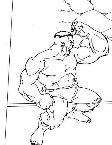 DIBUJOS de Hulk】 para COLOREAR a lapiz a color