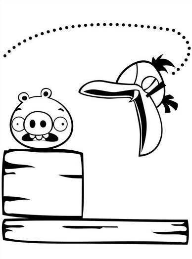Dibujos De Angry Birds Para Colorear A Lapiz A Color