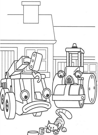 DIBUJOS de Bob el Constructor】 para COLOREAR a lapiz a color