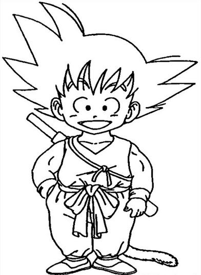 Dibujos De Dragon Ball Para Colorear A Lapiz A Color