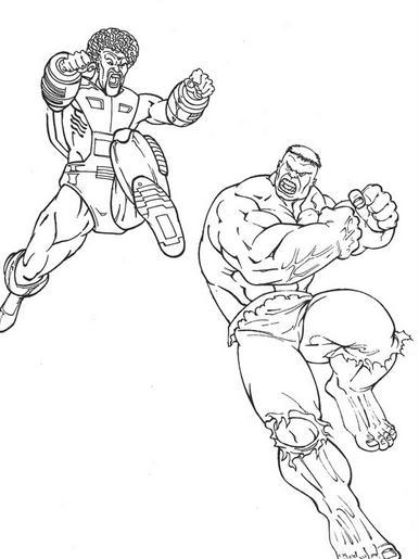 Hulk Enfrentándose A Un Enemigo