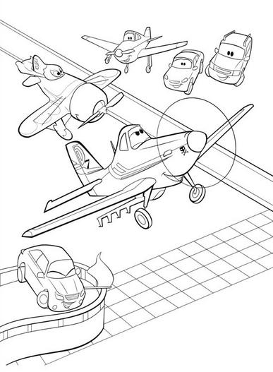 DIBUJOS de Aviones】 para COLOREAR a lapiz a color