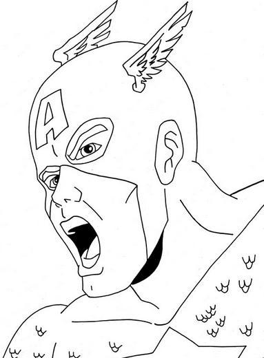 El capitán américa gritando