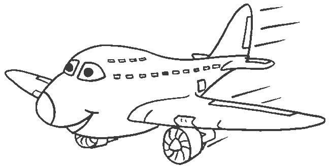 Dibujo para colorear de un Avión de pasajeros