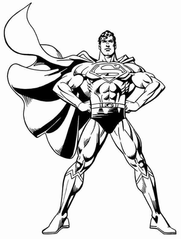 Dibujo para colorear de Superman