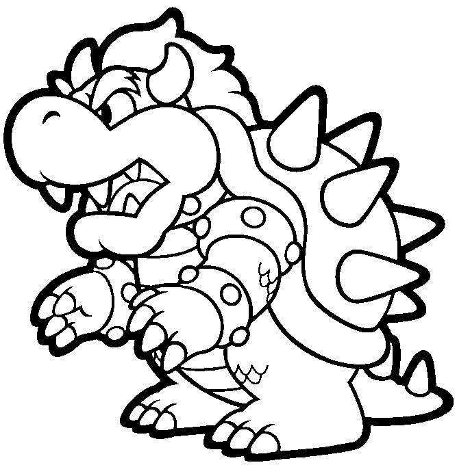 DIBUJOS de Mario Bros】 para COLOREAR a lapiz a color