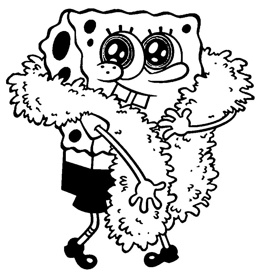 Dibujo De Bob Esponja Disfrazado
