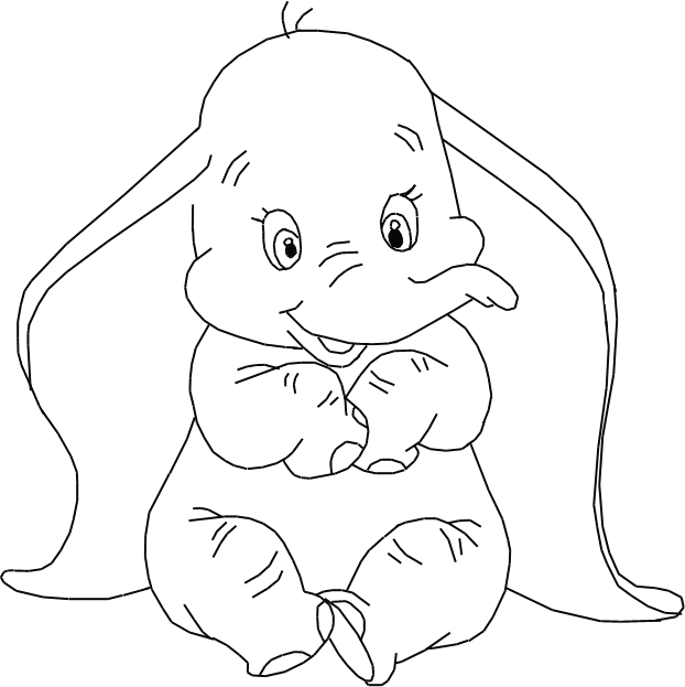 Dibujo para colorear de Dumbo