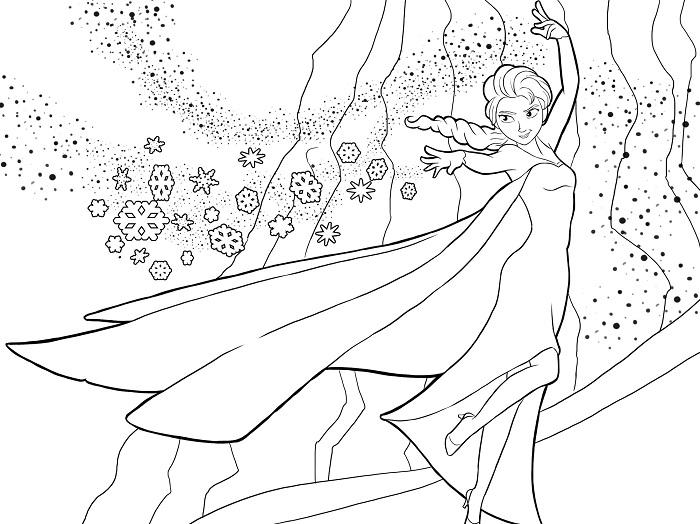 Dibujo Para Colorear De Frozen
