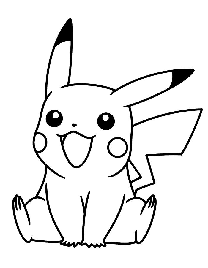 Dibujo para colorear de Pikachu