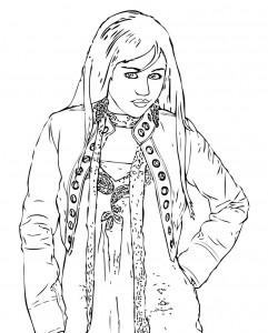 Dibujo para colorear Hannah Montana