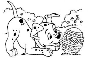 101 Dalmatas huevo Pascua | Dibujos de Dalmatas